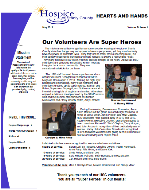 Newsletter May 2013 Capture